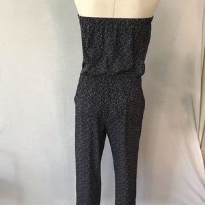 EXPRESS jumpsuit - black/white - size small